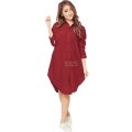 Lydia Longsleeve Tunic Shirt Dress - RED2  [TNK02]