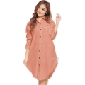 Lydia Longsleeve Tunic Shirt Dress - SALEM [TNK02]