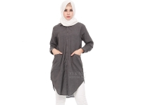 Diandra Chambray Tunic Shirt - GREY3
