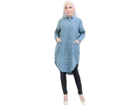 Diandra Chambray Tunic Shirt - DENIMBLUE3