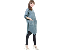 Diandra Chambray Tunic Shirt - DENIMBLUE5