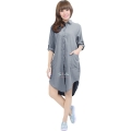 Diandra Chambray Tunic Shirt - GREY2