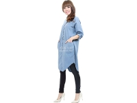 Diandra Chambray Tunic Shirt - LIGHTBLUE3