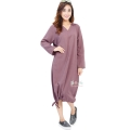 Desiree V-Neck Bottom String Tunic Dress - MAROON