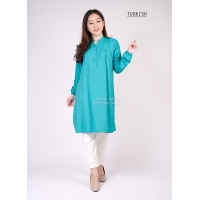 STELLA Tunik Wanita Midi Dress Lengan Panjang - TURKISH