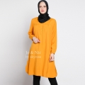STELLA Tunik Wanita Midi Dress Lengan Panjang M/L/XL - YELLOW