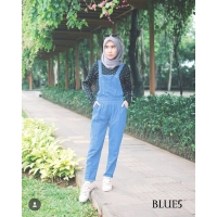 Sarah Soft Jeans Overall Pants - BLUE5