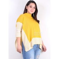 Jemima Side-Cut Batwing Sweater Rajut Jumbo Wanita - BIG SIZE fit up to XXL
