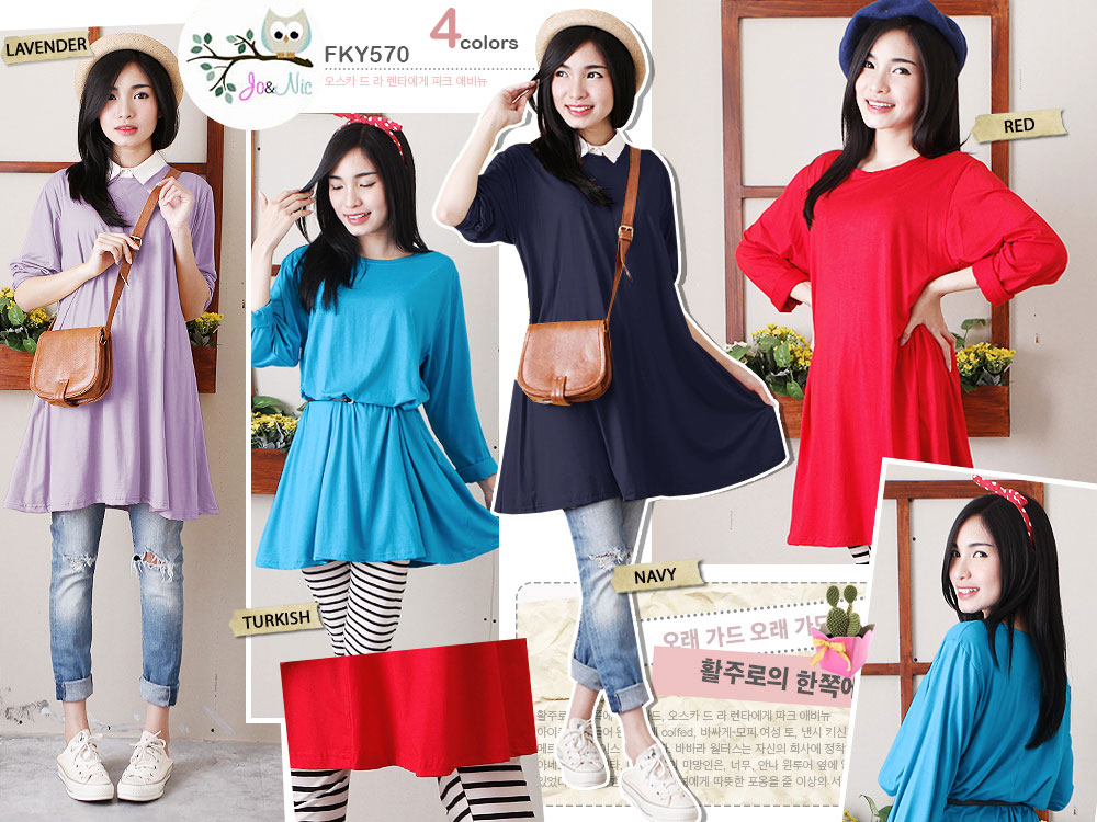 FKY570 Jessica A-Line Comfy Top bhn kaos rayon spandex High Qual allsize fit to XL