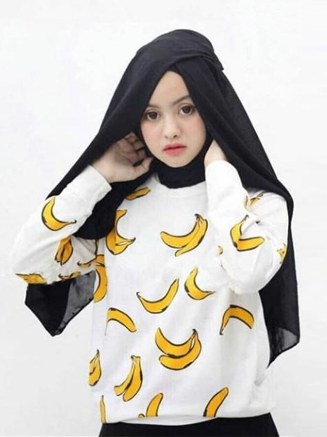 sweater nanas, sweater pisang, sweater banana, sweater pineapple