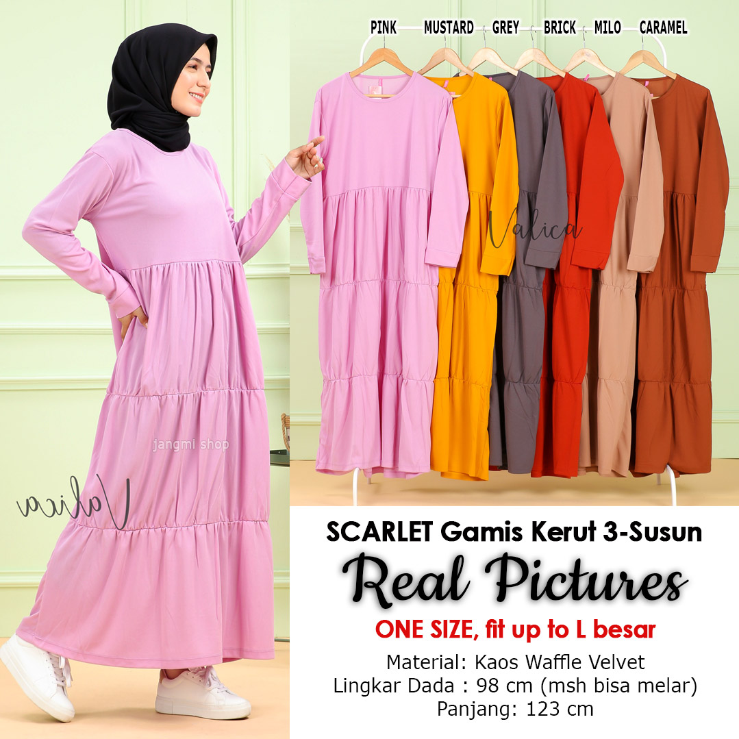 gamis muslim, dress outer, dress wanita, inner dress