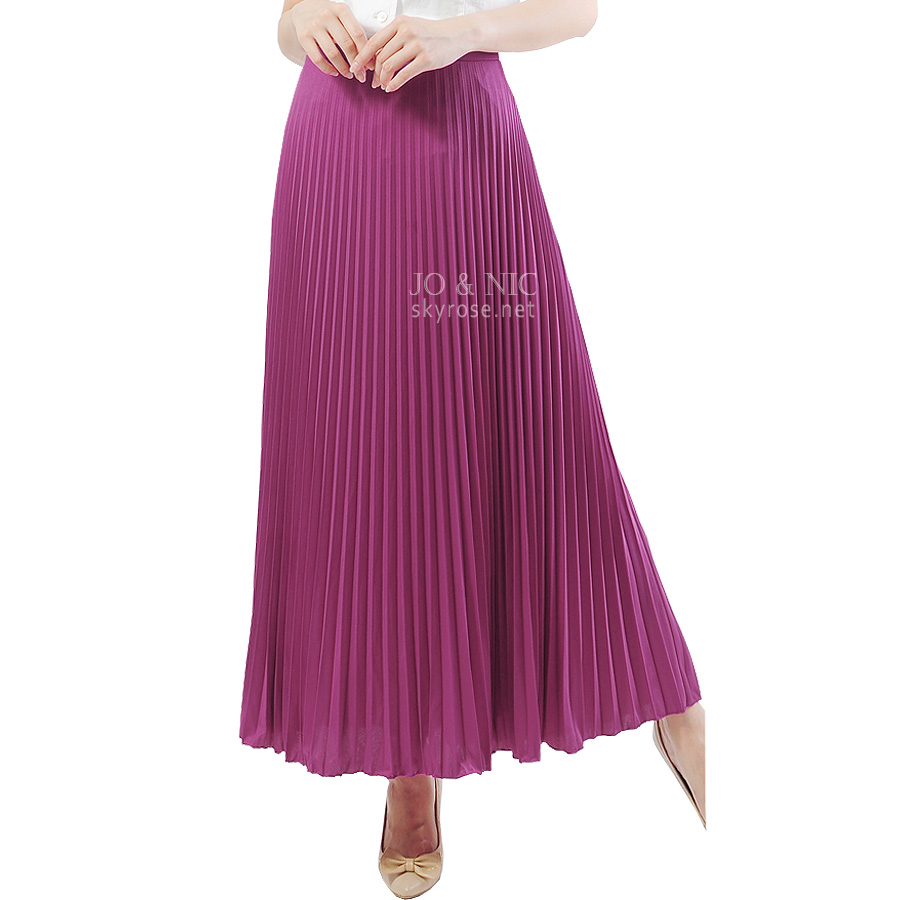 PVP4251 Pleated Long Skirts - Rok Panjang Prisket bhn spandex korea import HQ freesize fit up to XL